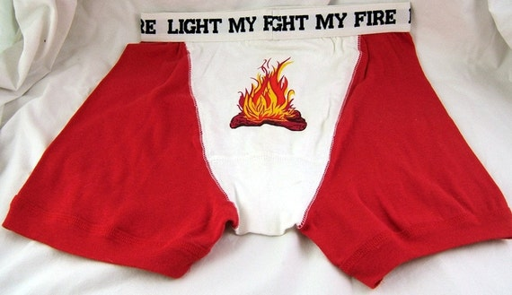 Vintage Boxer Briefs - Light My Fire - Never Worn
