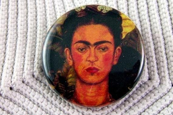 Altered Image Frida Kahlo Pinback Button - Package of 2