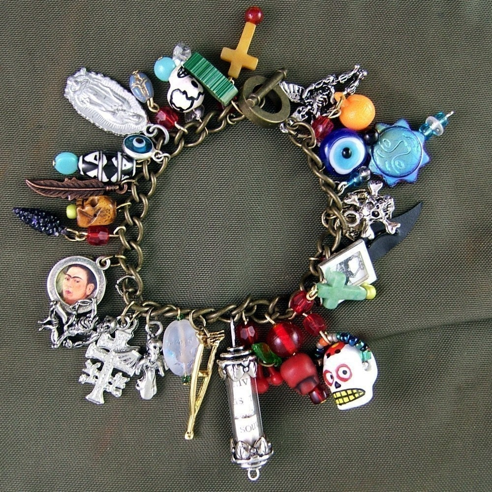 Bead Charms For Bracelets: DIY Day Of The Dead Charm Bracelet Kit Make This Bracelet