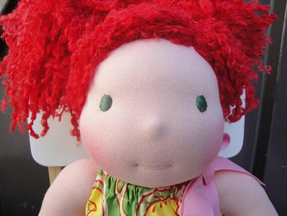 Meet Ginny - A 15 inch Waldorf doll - Eco Friendly - Ready To Ship
