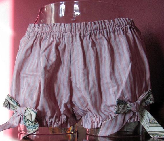 Pink and liberty print cotton mini bloomers