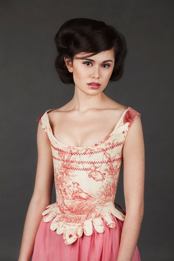 Toile de jouy stays - SAMPLE SALE