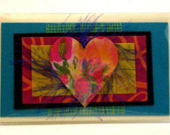 Whimsical Heart Debit Card Wallet