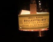 Upcycled Bottle Hanging Lamp- Bulleit Rye Whiskey