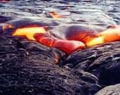 Kilauea Volcano Fine Art Photography Big Island Hawaii Heart Lava Flow 5x7