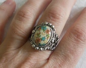 osO SPRING Oso flowery cameo adjustable ring