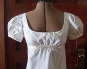 Jane Austen Gown or Regency Style Dress