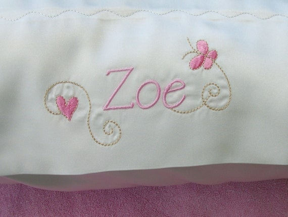 Handmade Personalized Satin Pillowcases Pair Of 2