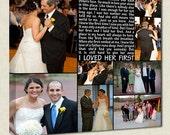 First Dance Father Daughter Dance Wedding photo gift Art  TEXT Wedding, Vows,12x16