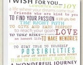Wish For Child Nursery Canvas Word Wall Art Love Journey Respect 15x15 canvas art