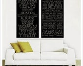 TWO Bus Roll Tram Subway Transit side by side Canvas Custom Great engagement , wedding or house warming gift (2) 16X32
