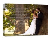Personalized Holiday Gift Romantic Wedding Photograph Keepsake Favorite Photo and Words, Vows,12x16
