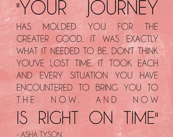 Your Journey right on time  PRINT 10x10 (no frame included) CHOOSE color