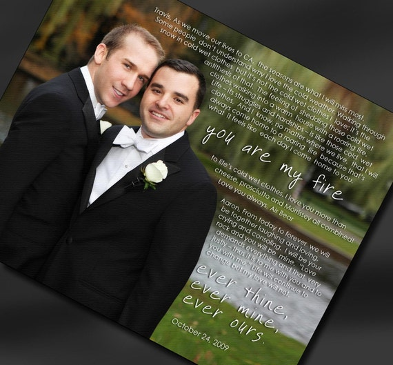 vows Gay marriage