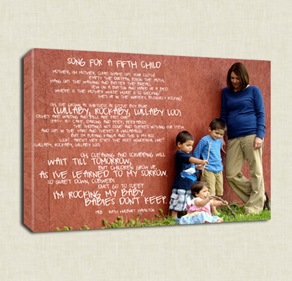 Reserved for Joe Micalizzi Things to do kids photos Words pictures on Canvas Art Custom Typography 16x20 inches