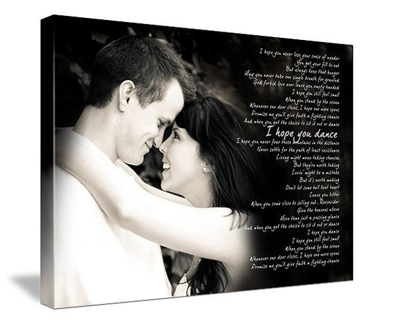 Word Art Lyrics Favorite Song Wedding Vow Art Personalized
