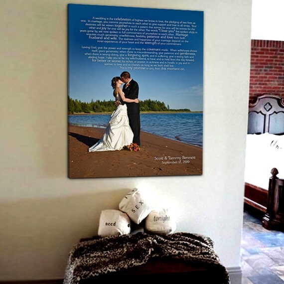 Personalized Canvas Art Gift Photos love letters, Your words Wedding Canvas , Your art 20x30