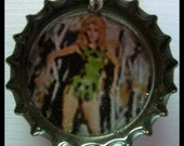 ONLY 1.00 FREE SHIPPING Barbarella Bottle Cap Charm I