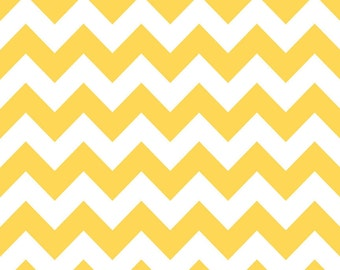 Riley Blake Designs, Medium Chevron in Yellow (C320 50)
