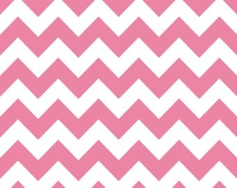 Riley Blake Designs, Medium Chevron in Hot Pink (C320 70)