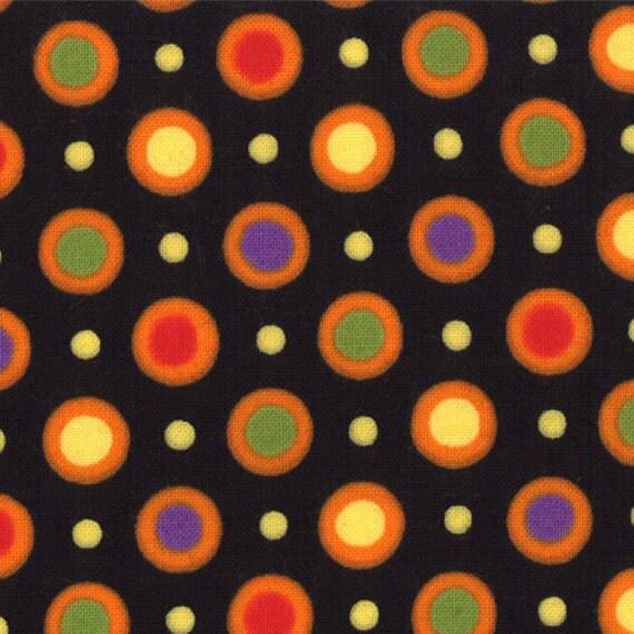 Happy Howloween by Deb Strain - Dots in Black (19554 11) - 1 yard
