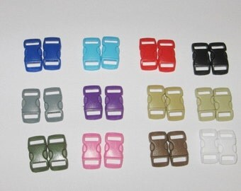 25 ct 3/8 inch curved side release buckles U PICK COLORs