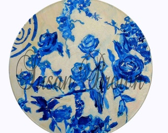 vinyl blue and white chinoiserie