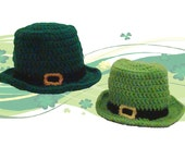 Crochet Leprechaun St Patrick's Day hat -- toddler kid child size