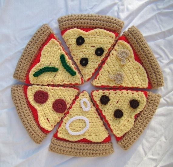 Crochet Stuffed Crust Pizza slice