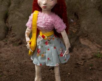 SALE Mary Jane - Handmade one of a kind art doll