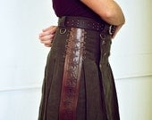 Green Steampunk with Accent Pleat