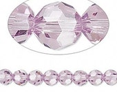 Swarovski Crystal Passions,Light Amethysts, 8mm faceted round (5000) - Qty 5