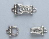 Magnetic Clasp fold-over, Swarovski crystal, Crystal AB & Jet - Total 2