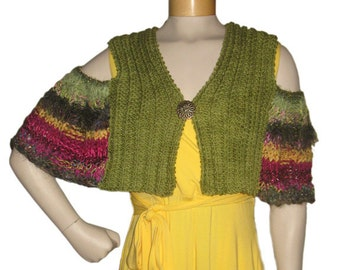 NEW Cold-Shoulder Capelets PDF pattern from Knittique