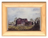 "6.125""x4.625"" FRAMED card SUMMER BARN"
