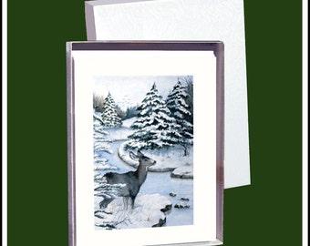 WINTER Blank Fine Art Note Card Assortment