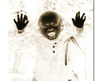 Scary Baby Halloween Photograph - Scary Halloween Decor -  Halloween Art Print - Photographic Wall Art by Sarah McTernen