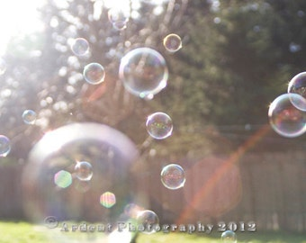 Bubbles and Rainbow Summer Photographic Art