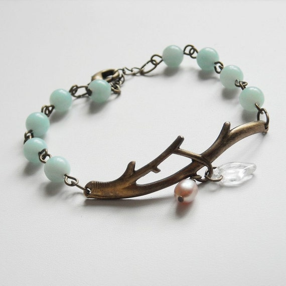 FREE SHIPPING - Garden of Joy Aqua Bracelet