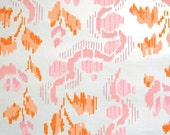 pink and orange ikat vintage wallpaper