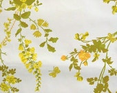 yellow and green floral vintage wallpaper