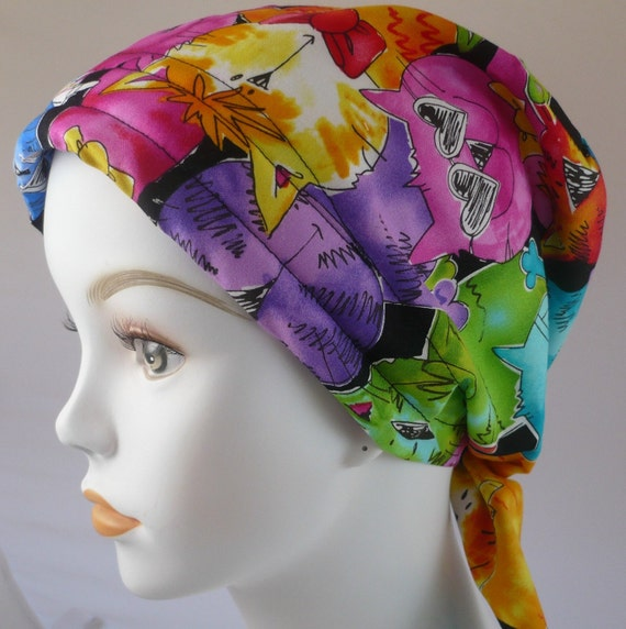cool cats chemo hat cancer scarf turban headwrap cap