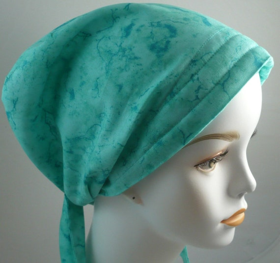 s aqua fitted chemo scarves cancer hat by
