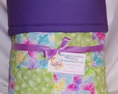 Purple Butterfly Quilt - Reduced From 35 Dollars