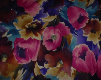 Printed Faux Suedecloth --1.5 yd x 62in wide