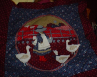 Goose Girl Pillow panels --1yd 4 pillow paels