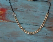 Boho Chic Golden Chain With Prism Necklace