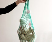 OOAK Teal Eco Friendly Shopping Net Bag, Great for  go to the beach, shopping, hold dirty clothes, toys, beach accessories