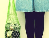 LAST ONE eco friendly Green Net Bag - Go Green, beach accessories