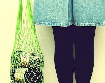 Eco friendly Green Net Bag - Go Green, beach accessories